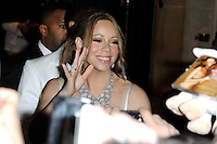 News Pictures--- PARIS, FRANCE - APRIL 27: US singer Mariah Carey and her husband Nick Cannon leave the 'Plaza Athenee' Hotel to go for dinner at the Eiffel Tower, on April 27, 2012 in Paris, France. Local Caption Mariah Carey, Nick Cannon  .. Credit: Edouard Bernaux/News Pictures/MediaPunch inc. ***FOR USA ONLY*** NORTEPHOTO.COM<br />