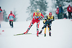 HOLMENKOLLEN, OSLO, NORWAY - March 16: (L-R) Joergen Graabak of Norway (NOR) and Bryan Fletcher of USA during the cross country 15 km (2 x 7.5 km) competition at the FIS Nordic Combined World Cup on March 16, 2013 in Oslo, Norway. (Photo by Dirk Markgraf)