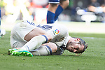 Garet Bale of Real Madrid reacts during the match of  La Liga between Real Madrid and Deportivo Alaves at Bernabeu Stadium Stadium  in Madrid, Spain. April 02, 2017. (ALTERPHOTOS / Rodrigo Jimenez)