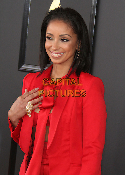 12 February 2017 - Los Angeles, California - Mya Hamilton, Mya. 59th Annual GRAMMY Awards held at the Staples Center.  <br /> CAP/ADM<br /> &copy;ADM/Capital Pictures