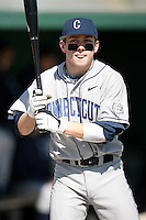 February 20, 2009:  Second baseman Pierre LePage (9) of the University of Connecticut during the Big East-Big Ten Challenge at Jack Russell Stadium in Clearwater, FL.  Photo by:  Mike Janes/Four Seam Images