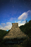 INDONESIA, Flores, the thatched roof of a home at Saga Village under the stars