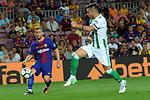 League Santander 2017/2018. Game: 01.<br /> FC Barcelona vs Real Betis: 2-0.<br /> Gerard Deulofeu vs Sergio Leon.