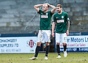 Hib's Dylan McGeouch and Hib's Martin Boyle at the end of the game.