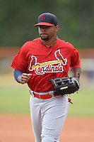 St. Louis Cardinals outfielder Vaughn Bryan (27) during a minor league spring training game against the New York Mets on March 27, 2014 at the Port St. Lucie Training Complex in St. Lucie, Florida.  (Mike Janes/Four Seam Images)