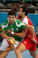 15.01.2013 World Championshio Handball. Match between Algeria vs Egypt (24-24) at the stadium La Caja Magica. The picture show Abdelkader Rahim (Centre back of Algeria)