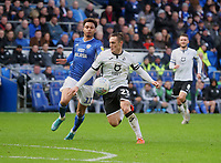 Swansea City's Connor Roberts shields the ball from Cardiff City's Josh Murphy<br /> <br /> Photographer Ian Cook/CameraSport<br /> <br /> The EFL Sky Bet Championship - Cardiff City v Swansea City - Sunday 12th January 2020 - Cardiff City Stadium - Cardiff<br /> <br /> World Copyright © 2020 CameraSport. All rights reserved. 43 Linden Ave. Countesthorpe. Leicester. England. LE8 5PG - Tel: +44 (0) 116 277 4147 - admin@camerasport.com - www.camerasport.com