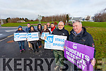 Lecturers on strike at IT Tralee North Campus on Wednesday afternoon were l-r: Caitriona Heffernan, PJ Gibbon, Jackie Gavaghan, Ann Marie Greaney, Derval Spring, Ashley Gaskin, Jerry Gallagher, Paul Collins and Cyril Gavaghan.