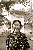 INDONESIA, Mentawai Islands, Kandui Resort,  portrait of a Mentawai elder with tattos named Tatiana (B&W)
