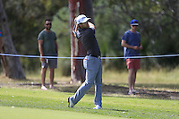 Bryden MacPherson (AUS) on the 18th during Round 1 of the ISPS HANDA Perth International at the Lake Karrinyup Country Club on Thursday 23rd October 2014.<br /> Picture:  Thos Caffrey / www.golffile.ie