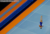 Jul 15, 2007; Rio de Janeiro, Brazil; Alexander Rodriguez Colon (PUR) performs on the floor exercise during the mens gymnastics individual all-around final in the Pan American Games at the Multipurpose Arena in Rio de Janeiro. Mandatory Credit: Mark J. Rebilas-US PRESSWIRE Copyright © 2007 Mark J. Rebilas