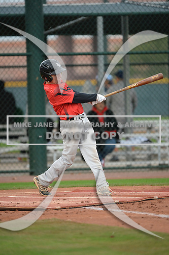 Matthew Ojeda (2) of Miami Killian High School in Miami, Florida during the Under Armour All-American Pre-Season Tournament presented by Baseball Factory on January 14, 2017 at Sloan Park in Mesa, Arizona.  (Art Foxall/Mike Janes Photography)