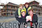 Fantastic funding: Celebrating the announcement that the Listowel Family Resource Centre was allocated over half a million euros this week were Bridie Mulvihill, (Community development worker), Jackie Landers, (centre manager), Claire Stack, (administration) and Patricia Lyons, (childcare supervisor) at the site of the new centre at Stoker's Place off the John B Keane Road.   Copyright Kerry's Eye 2008