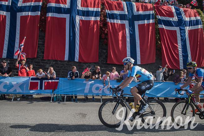 Julien Vermote (BEL/Quick-Step Floors) up Salmon Hill<br /> <br /> Men Elite Road Race<br /> <br /> UCI 2017 Road World Championships - Bergen/Norway