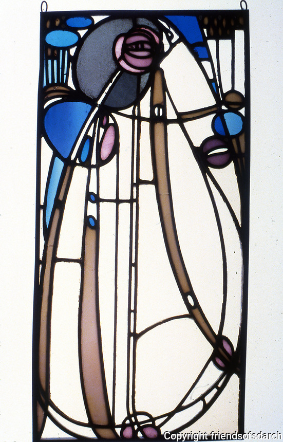 Mackintosh Collection: Hunterian Art Gallery, U. of Glasgow. Leaded Glass Panel 1902.