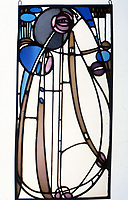 Mackintosh Collection: Hunterian Art Gallery, U. of Glasgow. Leaded Glass Panel 1902.