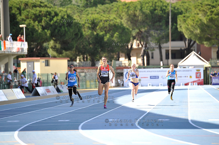 Versace Giuseppina (ITA) 2° classificata 200mt t44 during the European athletics paralympic championships June 13, 2016 in Grosseto, Italy. Photo: Fortunato-DiLoreto/BuenaVista*photo