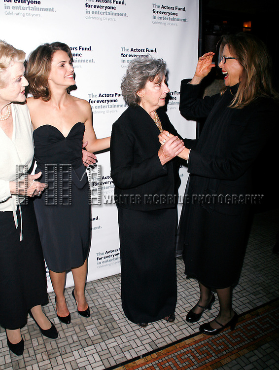 Angela Lansbury, Keri Russell, Zoe Caldwell, Annette Bening.attending the After Party at Bond 45 Restaurant for The Actors Fund One Night Only Benefit of ALL ABOUT EVE at the Eugene O'Neill Theatre in New York City..November 10, 2008.© Walter McBride /