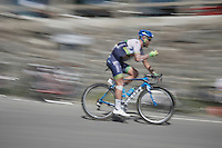 Svein Tuft (CAN/Orica-GreenEDGE) over the top of the Col du Tourmalet (HC/2115m/17km/7.3%)<br /> <br /> st11: Pau - Cauterets (188km)<br /> 2015 Tour de France