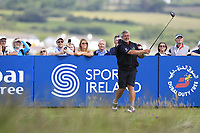 Darren Clarke (NIR) on the 18th tee during the Pro-Am of the Irish Open at LaHinch Golf Club, LaHinch, Co. Clare on Wednesday 3rd July 2019.<br /> Picture:  Thos Caffrey / Golffile<br /> <br /> All photos usage must carry mandatory copyright credit (© Golffile | Thos Caffrey)