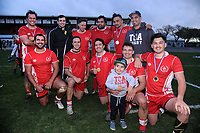 Toa brothers after winning the Horowhenua-Kapiti premier club rugby union final between Toa and Rahui at Levin Domain in Levin, New Zealand on Saturday, 28 July 2018. Photo: Dave Lintott / lintottphoto.co.nz