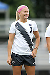 07 September 2014: Penn State's Emily Hurd. The Duke University Blue Devils hosted the Penn State University Nittany Lions at Koskinen Stadium in Durham, North Carolina in a 2014 NCAA Division I Women's Soccer match. PSU won the game 4-3.