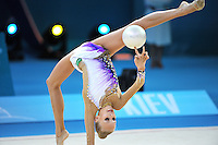 August 28, 2013 - Kiev, Ukraine - YANA KUDRYAVTSEVA of Russia performs at 2013 World Championships.