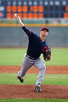 Cleveland Indians pitcher Brock Hartson (61) during an instructional league game against the Cincinnati Reds on October 17, 2015 at the Goodyear Ballpark Complex in Goodyear, Arizona.  (Mike Janes/Four Seam Images)