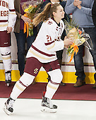 Lexi Bender (BC - 21) - The Boston College Eagles defeated the visiting Providence College Friars 7-1 on Friday, February 19, 2016, at Kelley Rink in Conte Forum in Boston, Massachusetts.