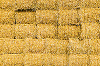 a stack of hay bales