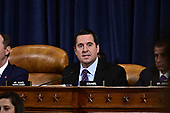 United States Representative Devin Nunes (Republican of California), Ranking Member, US House Permanent Select Committee on Intelligence delivers his closing statement after hearing Dr. Fiona Hill, former Senior Director for Europe and Russia, National Security Council (NSC), and David A. Holmes, Political Counselor, United States Embassy in Kyiv, Ukraine, on behalf of US Department of State, testify during the US House Permanent Select Committee on Intelligence public hearing as they investigate the impeachment of US President Donald J. Trump on Capitol Hill in Washington, DC on Thursday, November 21, 2019.<br /> Credit: Ron Sachs / CNP<br /> (RESTRICTION: NO New York or New Jersey Newspapers or newspapers within a 75 mile radius of New York City)