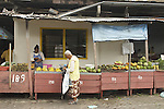 Central market of Paramaribo, Suriname.