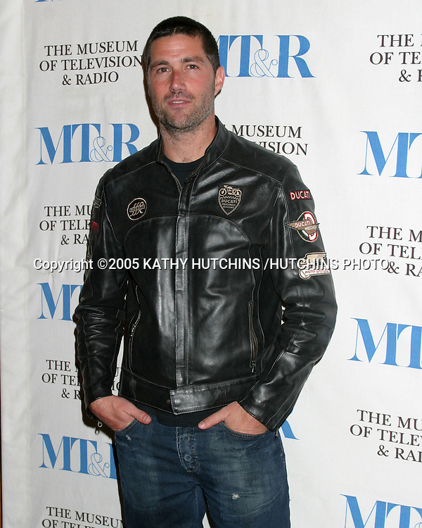 MATTHEW FOX.LOST PANEL.MUSEUM OF TV AND RADIO PALEY FESTIVAL.HOLLYWOOD, CA.MARCH 12, 2005.©2005 KATHY HUTCHINS /HUTCHINS PHOTO...