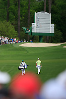 Tyrrell Hatton (ENG) on the 3rd fairway during the 2nd round at the The Masters , Augusta National, Augusta, Georgia, USA. 12/04/2019.<br /> Picture Fran Caffrey / Golffile.ie<br /> <br /> All photo usage must carry mandatory copyright credit (© Golffile | Fran Caffrey)