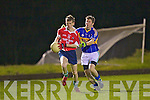 Pa Delee (Mountcollins) and Michael Cahill(Cordal) for 1st match under lights last Friday night in Mountcollins GAA.