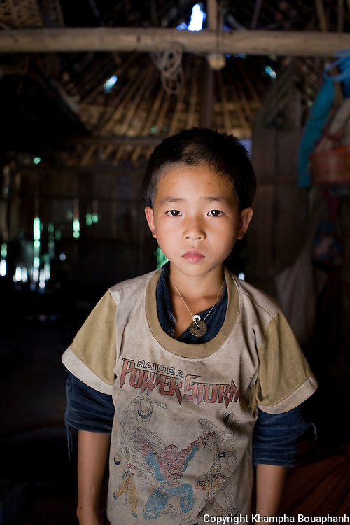 A Lanten boy, photographed at Ban Nam Goy in Luang Namtha Province, Laos on November 10, 2009.   (Photo by Khampha Bouaphanh)