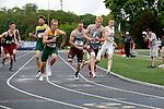 28 MAY 2016: Ross Denman of Wisconsin LaCrosse takes the baton from Joe Smith in the men's 4x400 meter race during the Division III Men's and Women's Outdoor Track & Field Championship held at Walston Hoover Stadium on the Wartburg College campus in Waverly, IA. Wisconsin LaCrosse won the race with a time of 3:10.50. Conrad Schmidt/NCAA Photos
