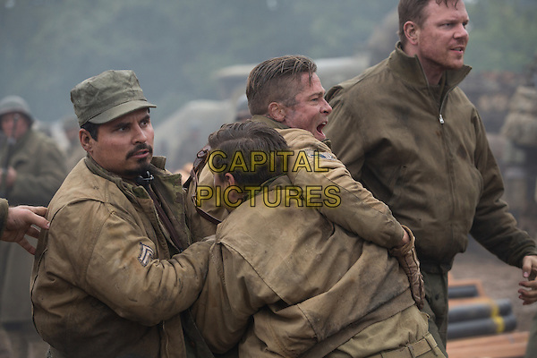 Michael Pena, Shia LeBeaouf, Brad Pitt, Jim Parrack<br /> in Fury (2014) <br /> *Filmstill - Editorial Use Only*<br /> CAP/FB<br /> Image supplied by Capital Pictures
