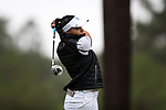 CHAPEL HILL, NC - OCTOBER 13: North Carolina's Clementina Rodriguez (VEN) on the 10th tee. The first round of the Ruth's Chris Tar Heel Invitational Women's Golf Tournament was held on October 13, 2017, at the UNC Finley Golf Course in Chapel Hill, NC.