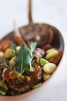 Europe/France/Rhone-Alpes/73/Savoie/Méribel: Côte  de veau aux légumes d'hiver, recette de Marc Dach de l'Hôtel-restaurant: Le Grand Coeur