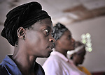 Women worship in a United Methodist church in Kananga, DR Congo.