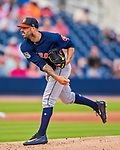 28 February 2017: Houston Astros starting pitcher Mike Fiers on the mound during the Spring Training inaugural game against the Washington Nationals at the Ballpark of the Palm Beaches in West Palm Beach, Florida. The Nationals defeated the Astros 4-3 in Grapefruit League play. Mandatory Credit: Ed Wolfstein Photo *** RAW (NEF) Image File Available ***