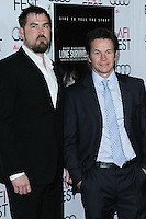 "HOLLYWOOD, CA - NOVEMBER 12: Marcus Luttrell, Mark Wahlberg at the AFI FEST 2013 - ""Lone Survivor"" Premiere held at TCL Chinese Theatre on November 12, 2013 in Hollywood, California. (Photo by David Acosta/Celebrity Monitor)"