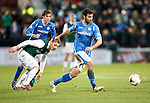 Hibs v St Johnstone...30.01.16   Utilita Scottish League Cup Semi-Final, Tynecastle..<br /> Simon Lappin and Fraser Fyvie<br /> Picture by Graeme Hart.<br /> Copyright Perthshire Picture Agency<br /> Tel: 01738 623350  Mobile: 07990 594431