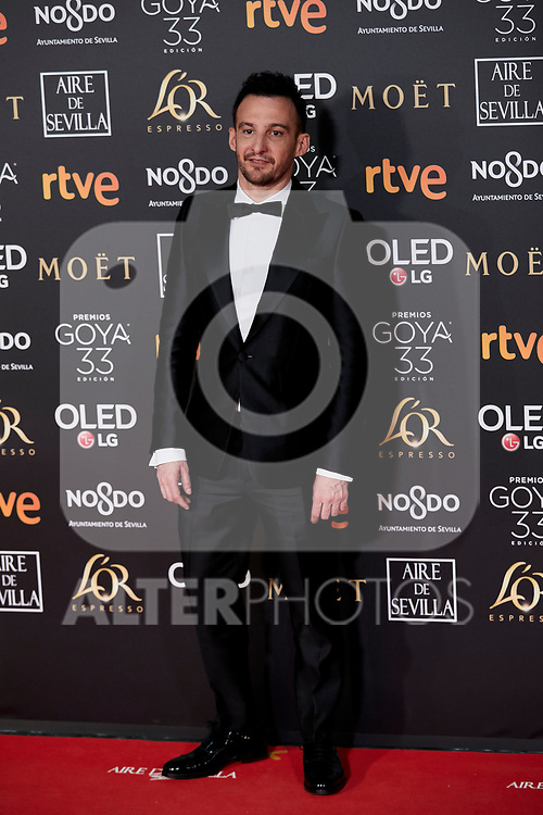 Alejandro Amenabar attends to 33rd Goya Awards at Fibes - Conference and Exhibition  in Seville, Spain. February 02, 2019. (ALTERPHOTOS/A. Perez Meca)