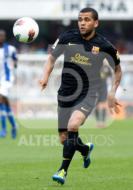 FC Barcelona's Daniel Alves during La Liga match.September 10,2011. (ALTERPHOTOS/Acero)
