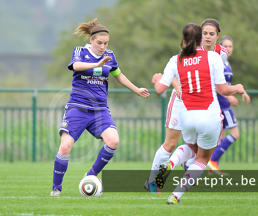 RSC Anderlecht Dames - Ajax Amsterdam : Anne Puttemans.foto DAVID CATRY / Nikonpro.be