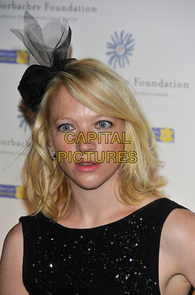 NATHALIE PRESS.At the Russia Midsummer Fantasy, in aid of the Raisa Gobachev Foundation, Stud House, Home Park, Hampton Court, England, UK, 7th June 2008. .arrivals portrait headshot black hat .CAP/PL.©Phil Loftus/Capital Pictures