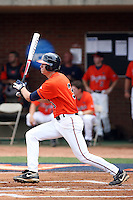 Jarrett Parker of the Virginia Cavaliers playing in Game Two of the NCAA Super Regional tournament against the Oklahoma Sooners at Charlottesville, VA - 06/13/2010. Oklahoma defeated Virginia, 10-7, to tie the series after two games.  Photo By Bill Mitchell / Four Seam Images