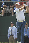 European Team player Lee Westwood drives off on the 1st tee during the Singles on the Final Day of the Ryder Cup at Valhalla Golf Club, Louisville, Kentucky, USA, 21st September 2008 (Photo by Eoin Clarke/GOLFFILE)